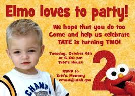 red u0026 yellow elmo birthday invitation