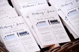 print wedding programs how to create your own wedding program fans holidappy