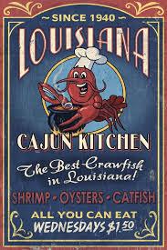 cajun decorations louisiana cajun kitchen crawfish vintage sign 12x18