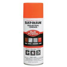 shop rust oleum industrial choice orange fluorescent enamel spray