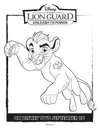 lion guard coloring pages kion coloring