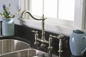 Bridge Kitchen Faucet With Side Spray by Premier Faucet Charlestown Two Handle Widespread Bridge Faucet