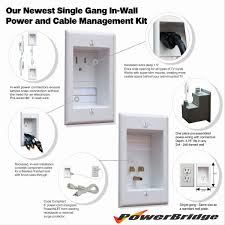 wall mounted cable management system powerbridge total power control kit single wirecare com