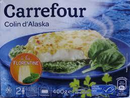 colin cuisine colin d alaska à la florentine surgelé carrefour 400 g 2