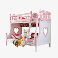 Baby Bunk Bed Solid Wood Bunk Bed Child Bed Pink Princess Bed The