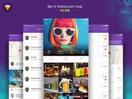 restaurant bar app concept freebie download sketch resource