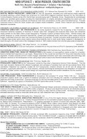 Production Manager Resume Samples Tv Producer Resume Resume For Your Job Application