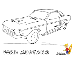 fierce car coloring ford cars free mustangs bird car