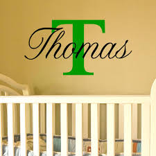 name wall art with capital letter available for a boy or girl name wall dec