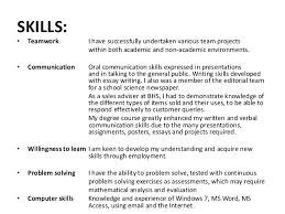 communication skills exles for resume gallery of revising my curriculum vitae communication skills