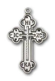 russian orthodox crosses silver antiochian orthodox cross with 26 inch chain noor s