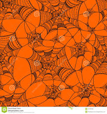 halloween background black spider web vector seamless pattern with spider web on orange stock vector