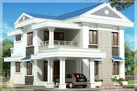 Beautiful Home Designs Photos Modern Sloping Roof Home Design Kerala Floor Plans House Plans