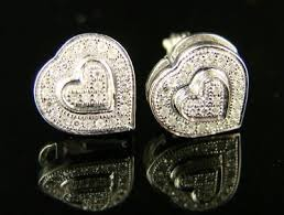 heart shaped diamond earrings heart shaped diamond stud earrings