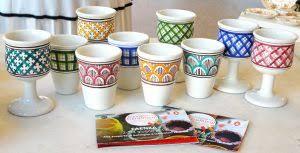 bicchieri in ceramica maestri maiolicari faentini ceramiche di faenza