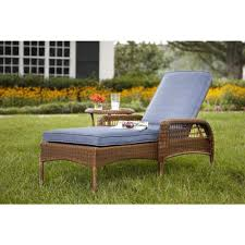 Patio Chairs With Cushions Hampton Bay Spring Haven Brown All Weather Wicker Patio Chaise