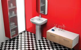 Red And Black Bathroom Decorating Ideas Red Tile Bathroom Ideas Best Bathroom Decoration