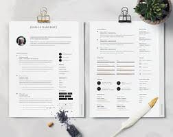 Creative Teacher Resume Templates Teacher Resume Etsy