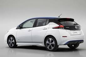 nissan leaf india launch 2018 nissan leaf rear left studio autobics