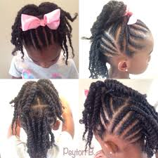 cornrows with ends twisted up into ponytail back cornrows with