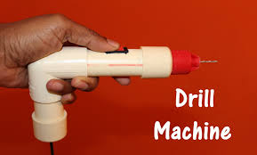 Cool At Home Crafts How To Make Drill Machine At Home Easy Youtube