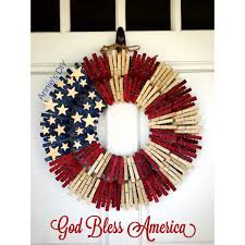 american flag wreath clothespin wreath created by annie huynh