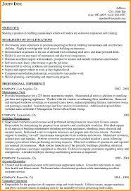 maintenance resume template maintenance resume sle resume for maintenance facilities