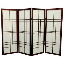 furniture japanese wooden glass room divider screens