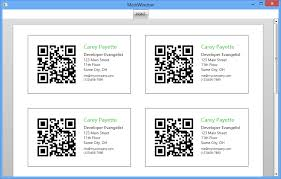 Create Qr Code For Business Card How To Create Business Cards With Qr Codes Using Radbarcodeq