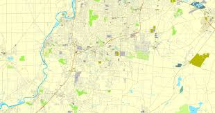 map us pdf ohio pdf map us vector city plan map