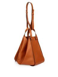 loewe hammock small leather tote in brown lyst