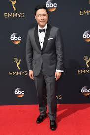 emmy red carpet fashion 2016 randall park of u201cveep u201d wearing