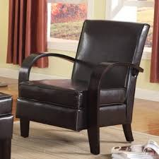dark brown leather look accent chair free shipping today