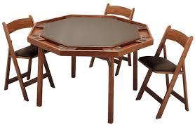 Wooden Folding Card Table Wooden Folding Cafe And Card Table In Mahogany
