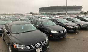 volkswagen car models vw diesels pile up in u s awaiting fix or scrap yard