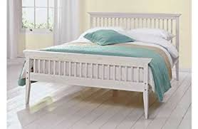 double bed wood frame new 4ft6 shaker white amazon co uk