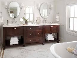 double sink vanity with middle tower 60 double sink bathroom vanities ariel bath scmon60swh montauk 60