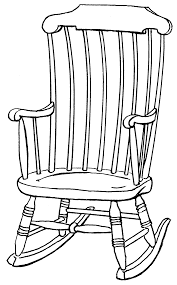 A Rocking Chair Grandmother Cooking Turkey Coloring Pages Rocking Chair Rocking