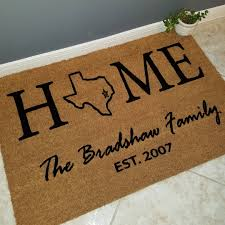 personalized housewarming gifts home state doormat custom doormat welcome mat personalized