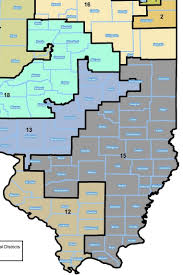 Illinois 18th Congressional District Map by Districts In Illinois Image Information