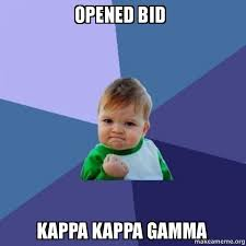 Meme Kappa - opened bid kappa kappa gamma success kid make a meme
