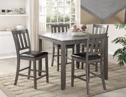 dining room high tables 5pc counter height table set in grey