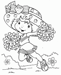 cheerleading coloring pages u2013 birthday printable