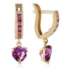 gold earrings in shape 3 2 carat 14k solid gold v shape hoop earrings heart amethyst ebay