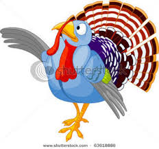 image a white and blue thanksgiving turkey