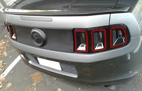 Blacked Out 2013 Mustang 2013 Decklid Panel Detailing The Mustang Source Ford Mustang