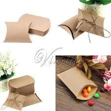 where to buy boxes for gifts aliexpress buy 100pcs kraft paper pillow favor gift box