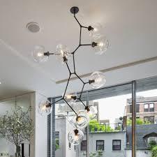 hanging globe lights indoors lindsey adelman bubble chandeliers lights fixture modern globe