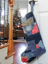 how to make a patchwork denim christmas stocking how tos diy