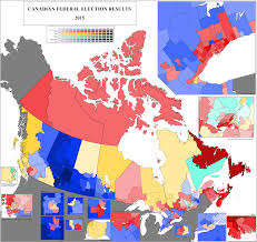Map Election by 2015 Canada Federal Election Results By Riding With Insets And